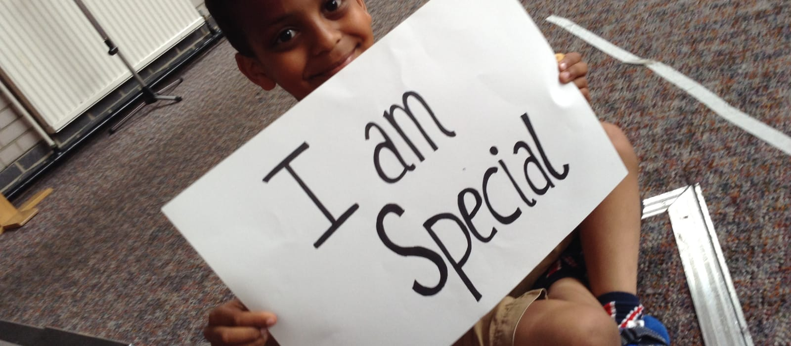 I am special child and banner